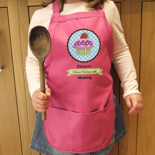 Personalised Strawberry Cupcake Childs Apron